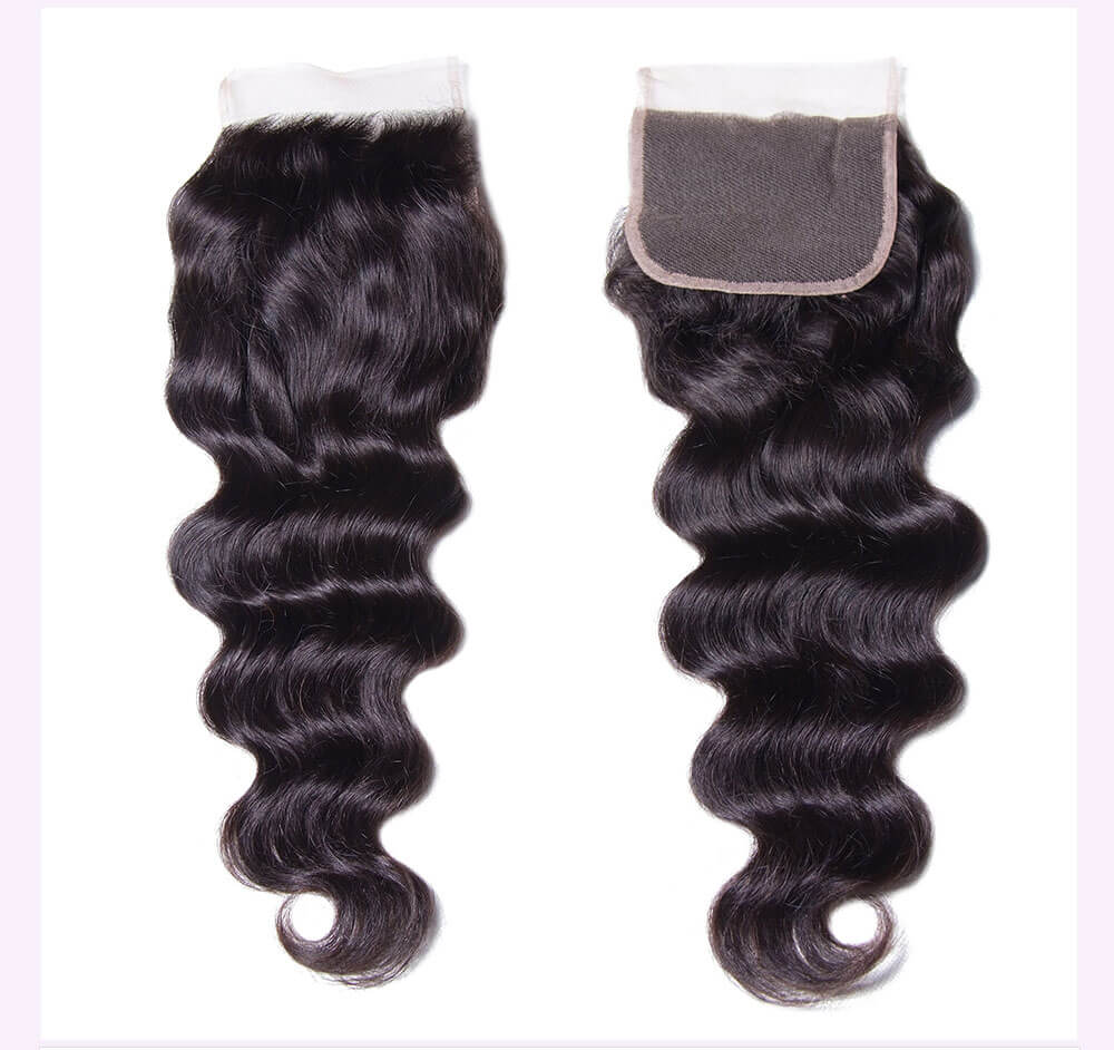 Unice kysiss Brazilian natural wave 3 bundles with lace closure