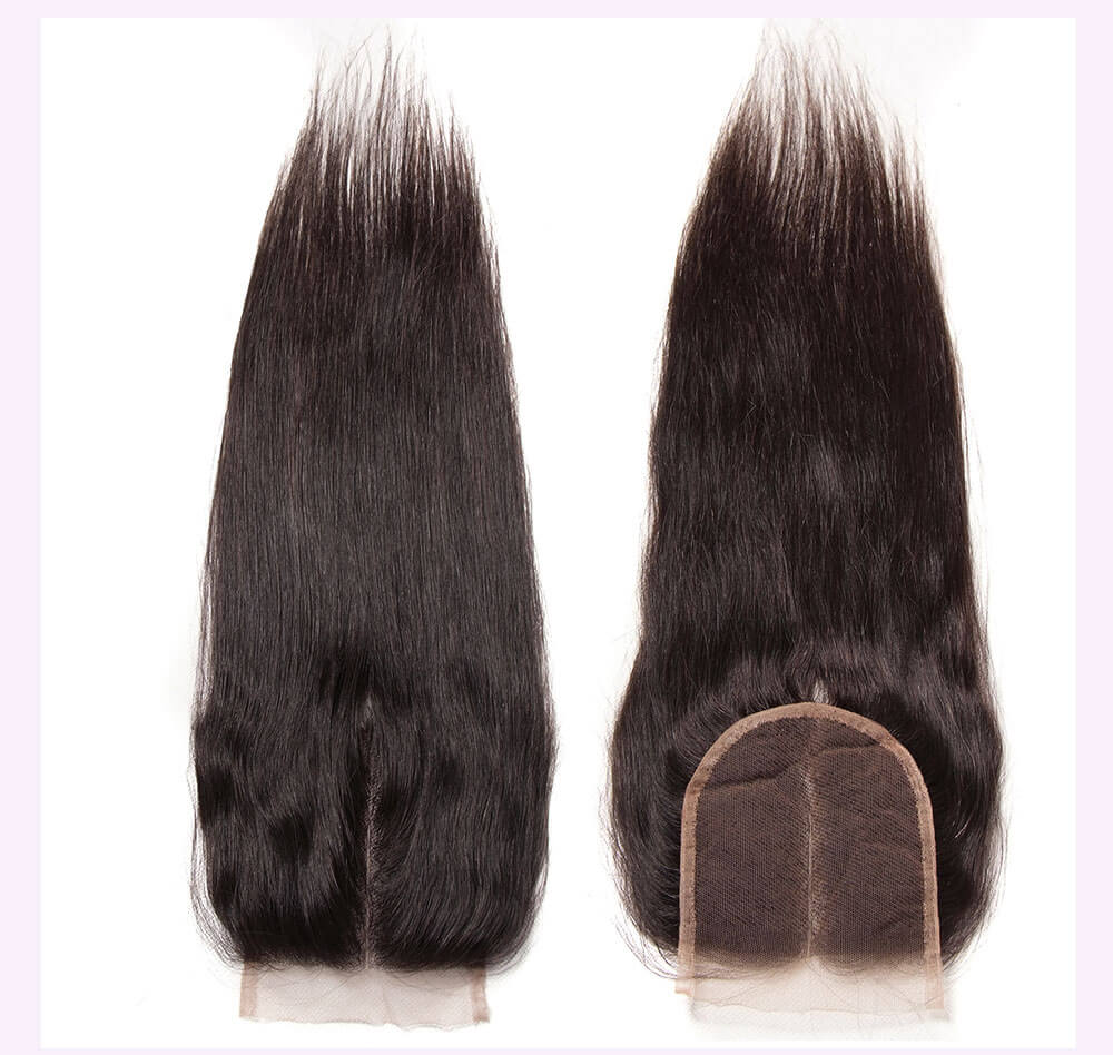 Unice kysiss Brazilian straight hair 4 bundles hair with lace closure