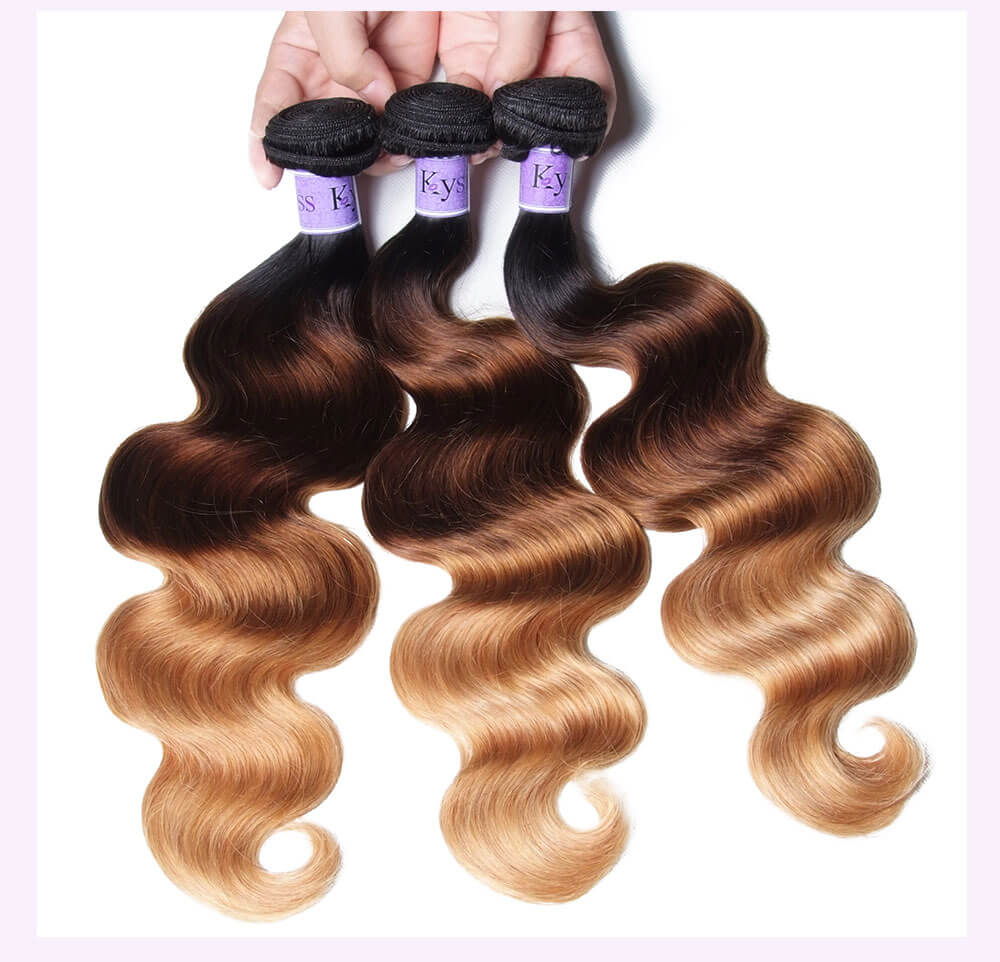 Unice kysiss T1B427 body wave 4 bundles hair