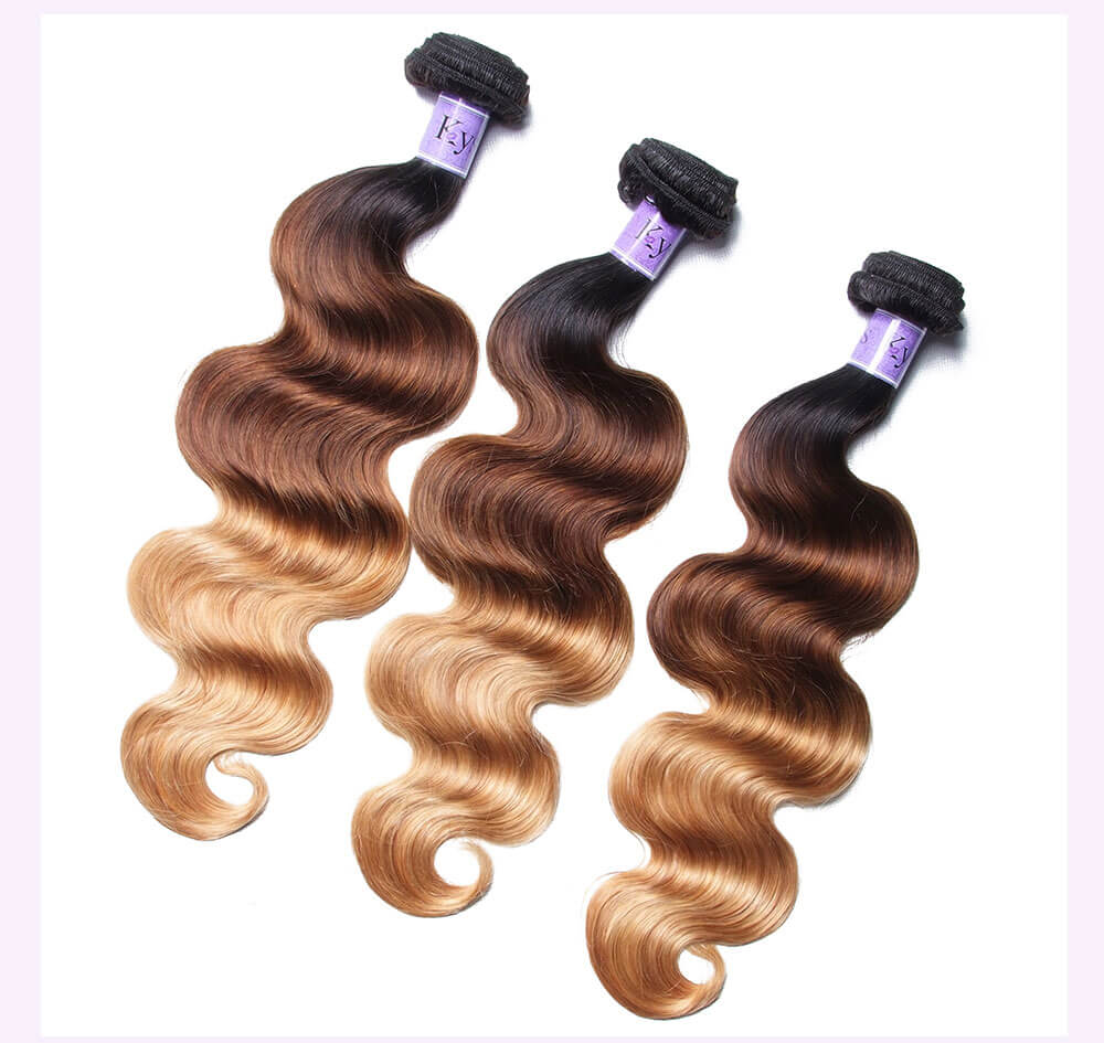 Unice kysiss T1B427 body wave 3 bundles hair