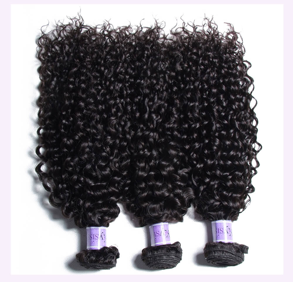 Unice kysiss Malaysian curly 3 bundles hair