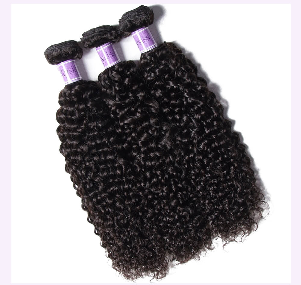 Unice kysiss Indian curly 4 bundles hair