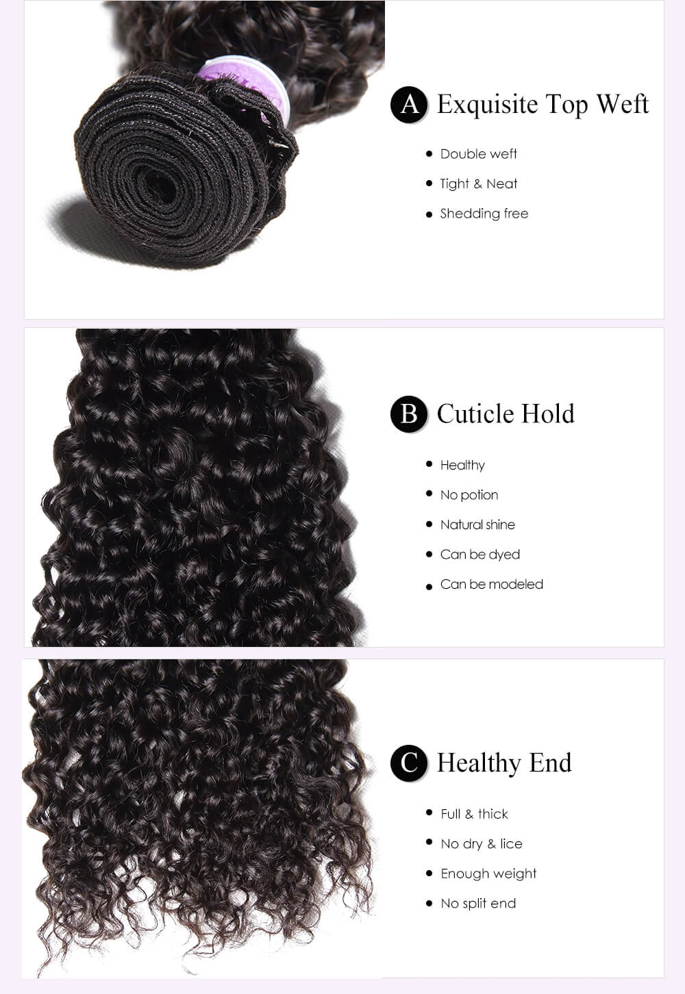 Unice kysiss Peruvian curly 4 bundles hair