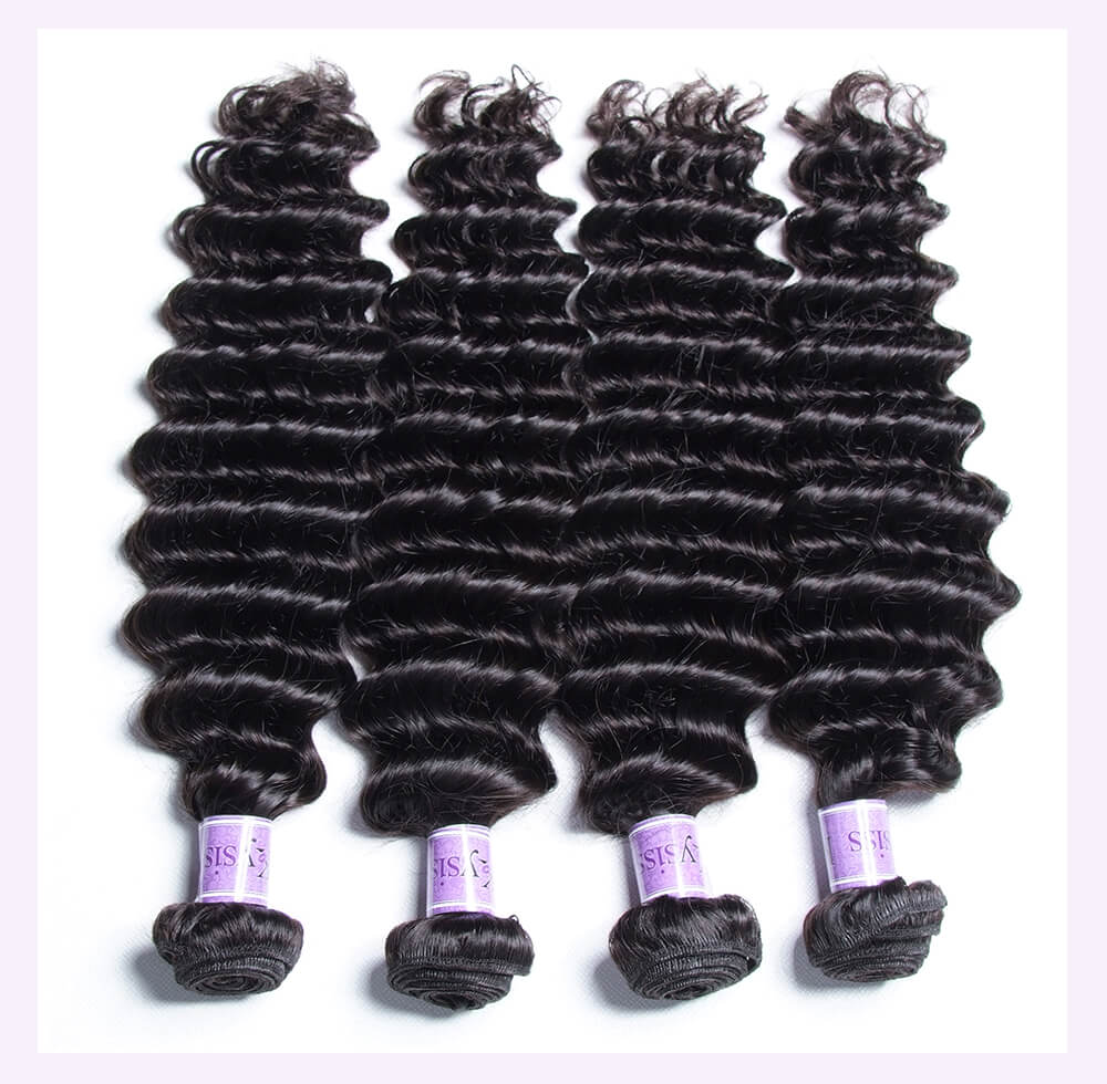 Unice kysiss Peruvian deep wave 4 bundles hair