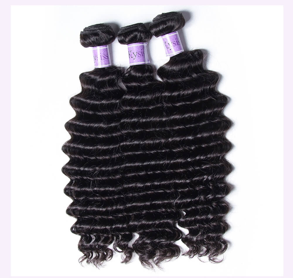 Unice kysiss Malaysian deep wave 3 bundles hair