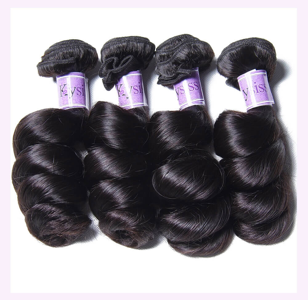 Unice kysiss Brazilian loose wave 4 bundles hair