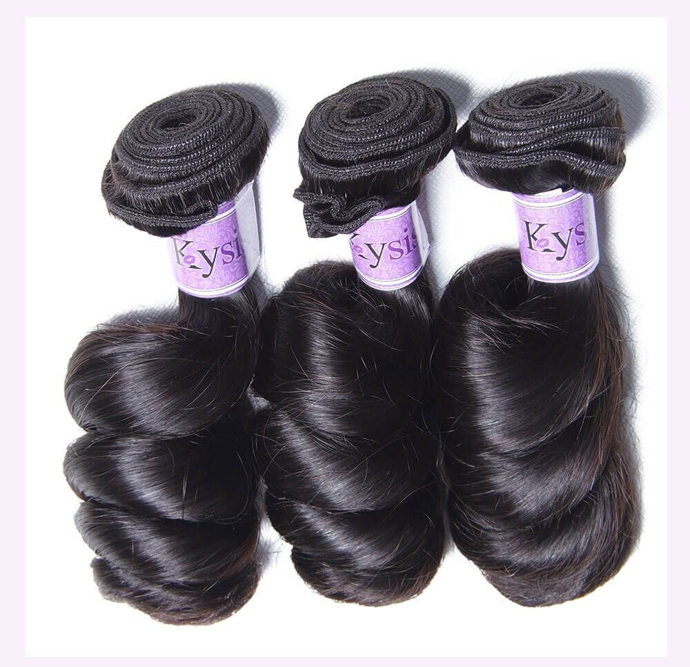 Unice kysiss Peruvian loose wave 3 bundles hair