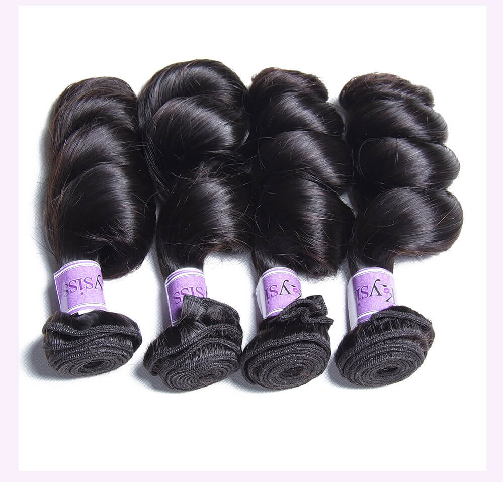 Unice kysiss Malaysian loose wave 4 bundles hair
