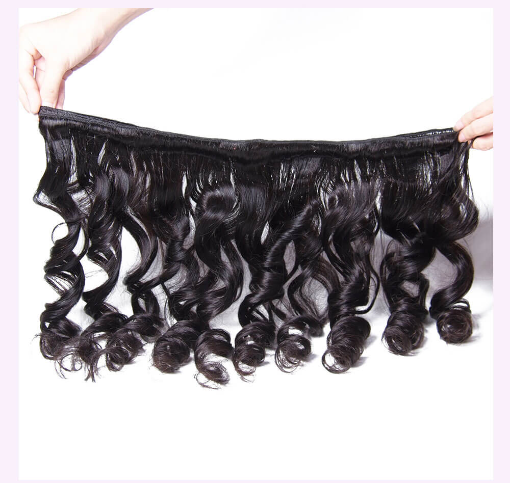 Unice kysiss Indian loose wave 4 bundles hair