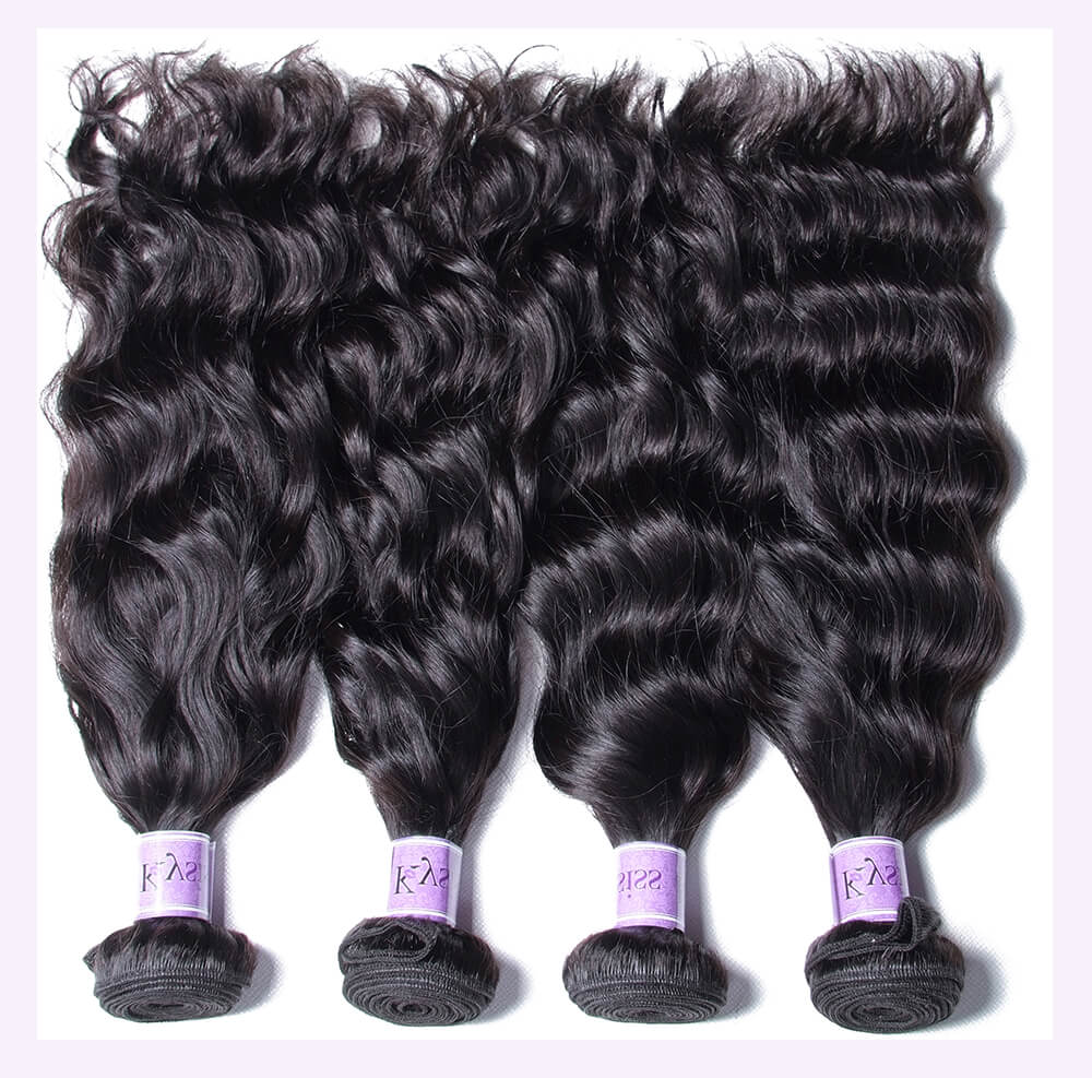 Unice kysiss Peruvian natural wave 4 bundles hair