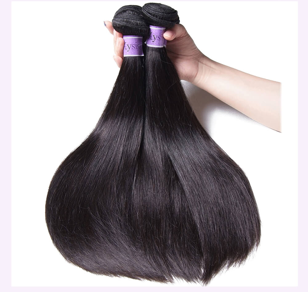 Unice kysiss Malaysian straight hair 3 bundles hair