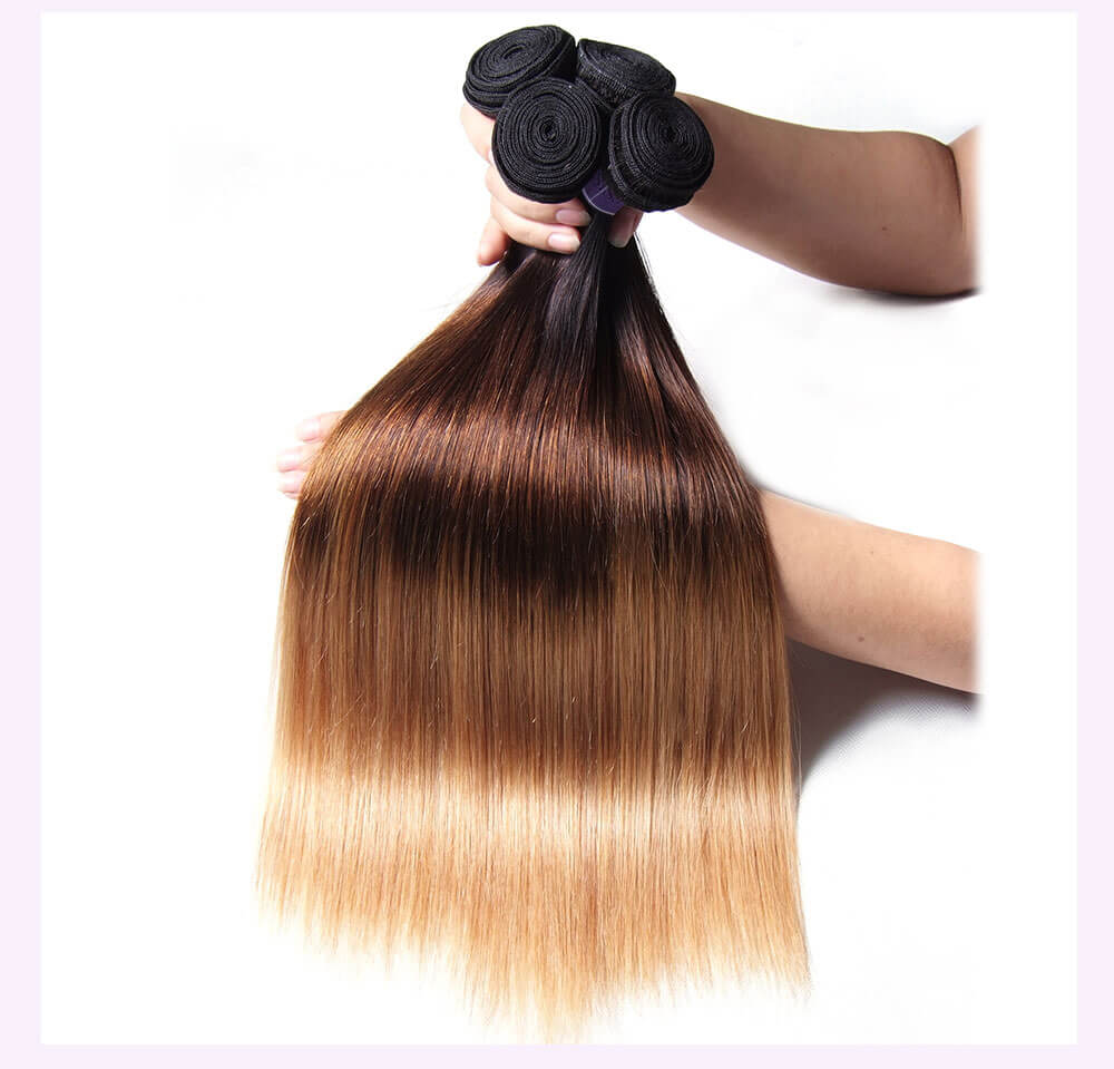 Unice kysiss T1B427 straight hair 4 bundles hair