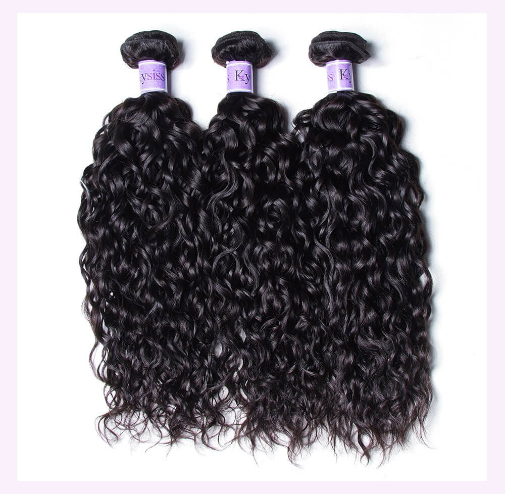 Unice kysiss Peruvian water wave 3 bundles hair