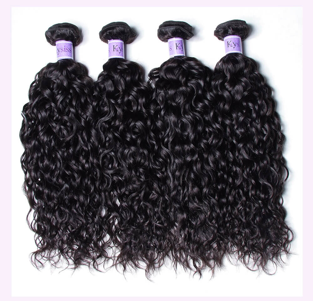 Unice kysiss Peruvian water wave 4 bundles hair