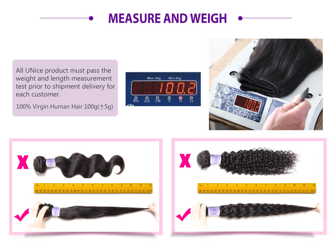 UNice Hair Kysiss Series Measure And Weigh