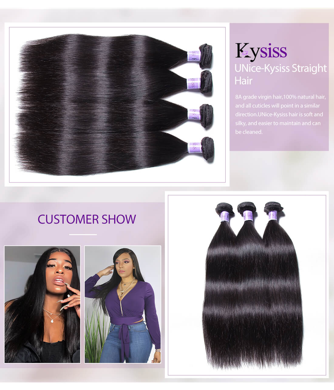 UNice Hair Kysiss Series Straight Hair