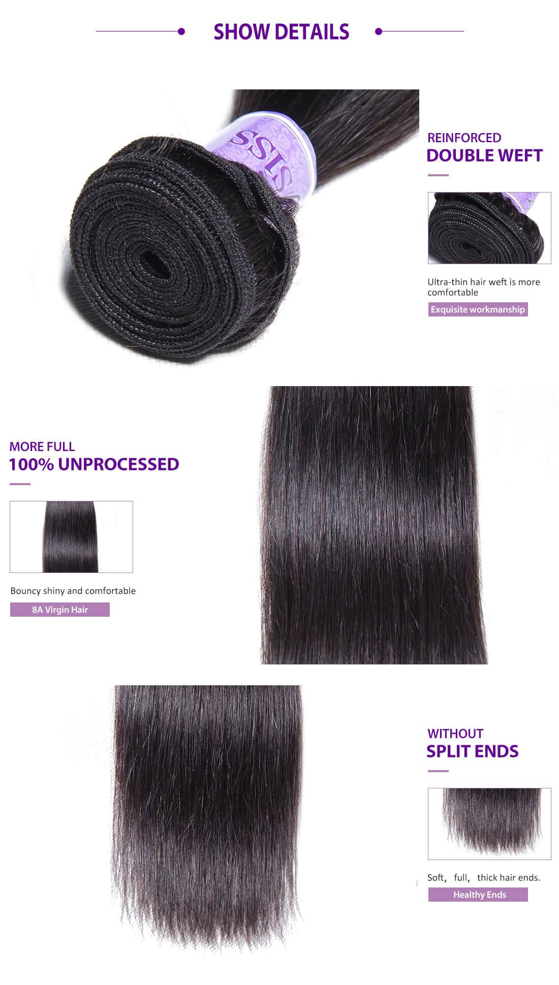 UNice Hair Kysiss Series Straight Hair Details