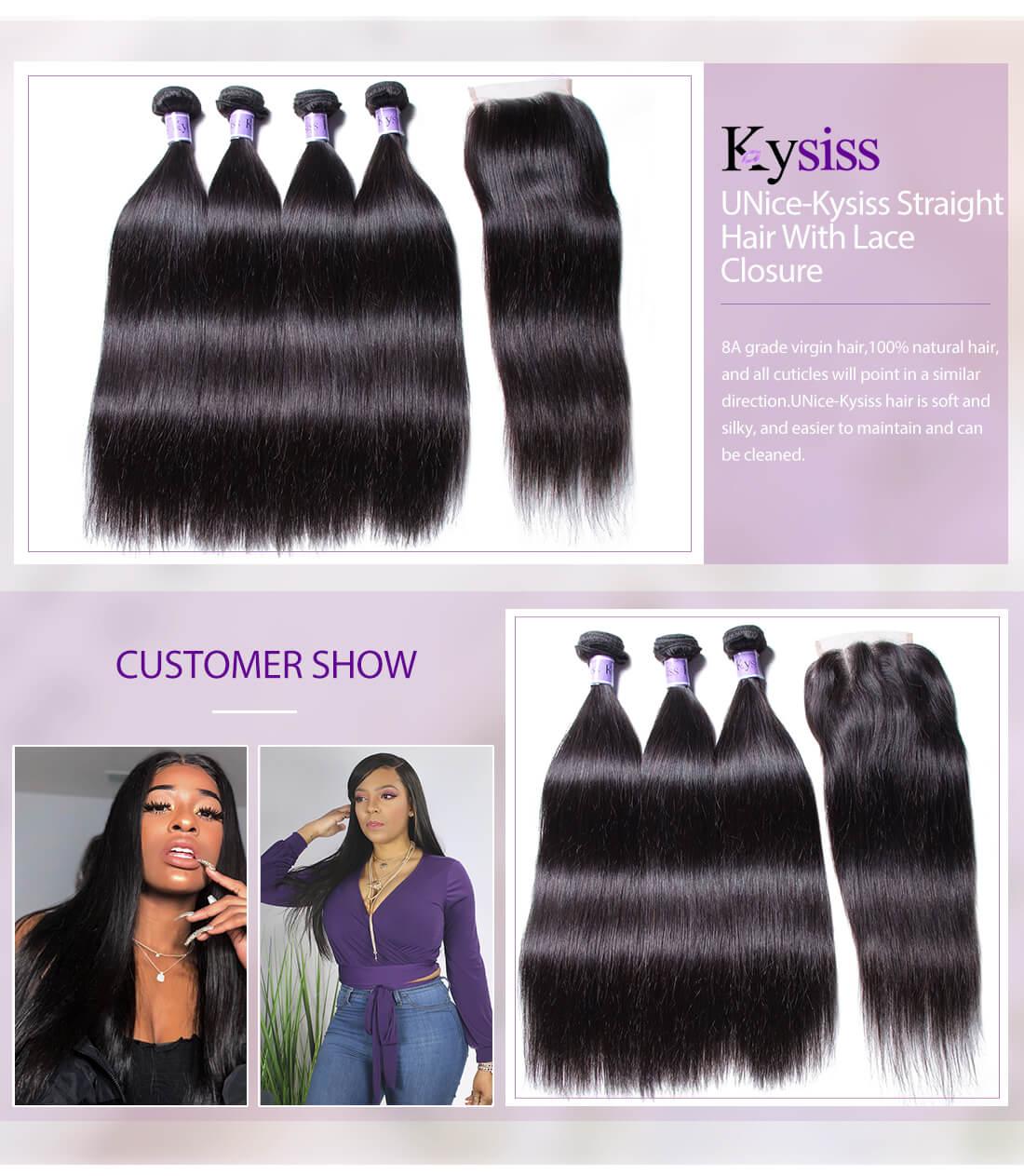 UNice Hair Kysiss Series Straight Hair With Closure