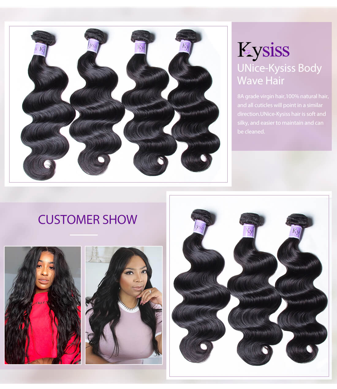 UNice Hair Kysiss Series Body Wave