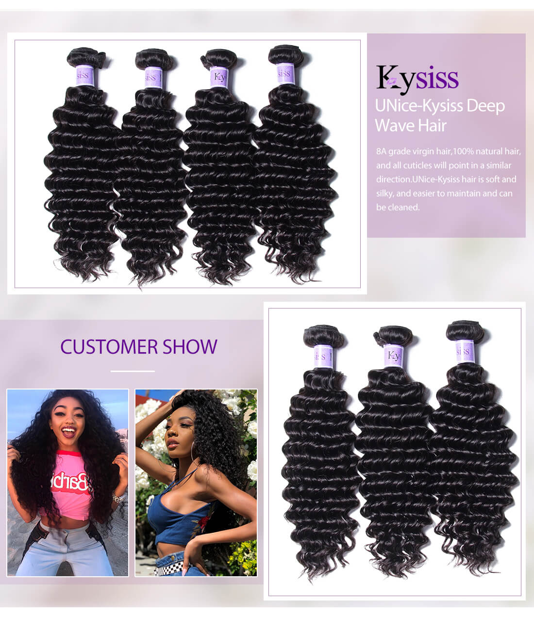 UNice Hair Kysiss Series Deep Wave Hair