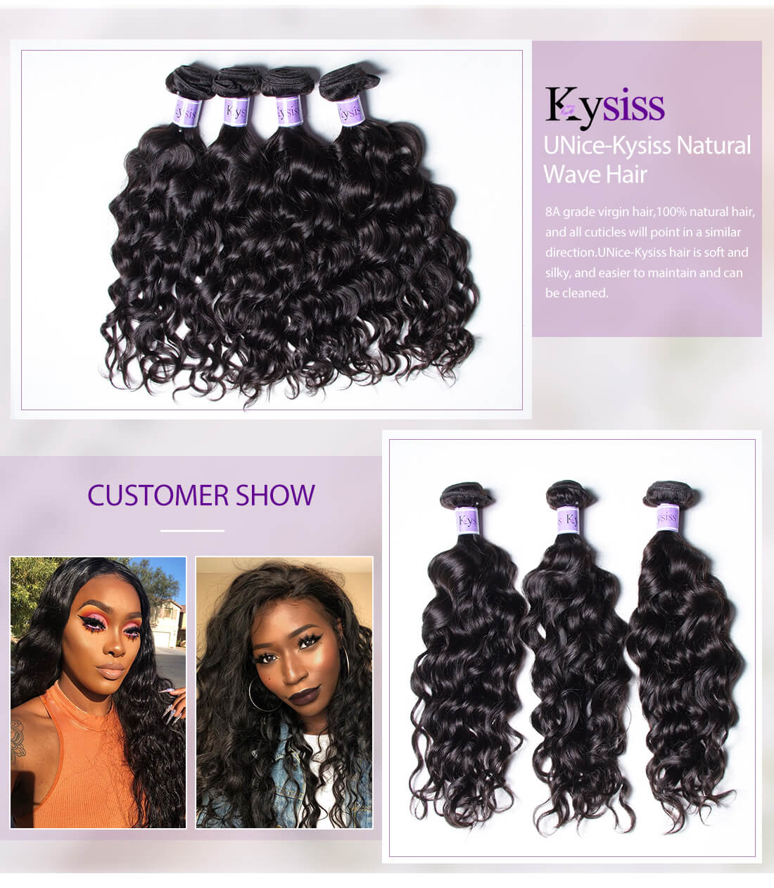 UNice Hair Kysiss Series Natural Wave Hair