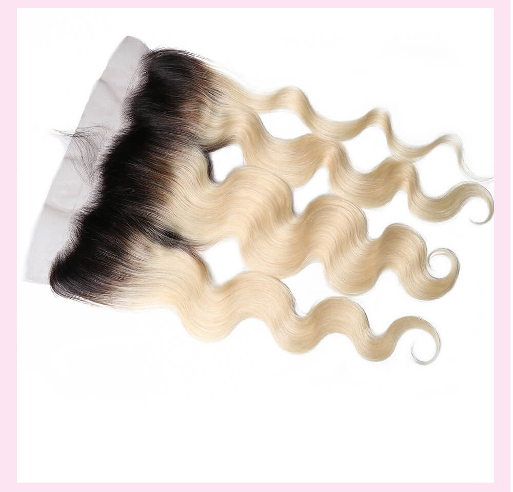 UNice Hair 1B/613 Body Wave Lace Frontal Closure With Baby Hair