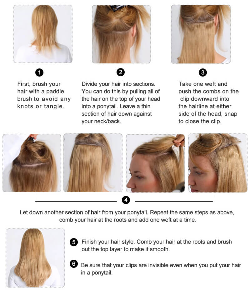 How To Apply Full Head Of Clip In Hair Extensions Maxiwig