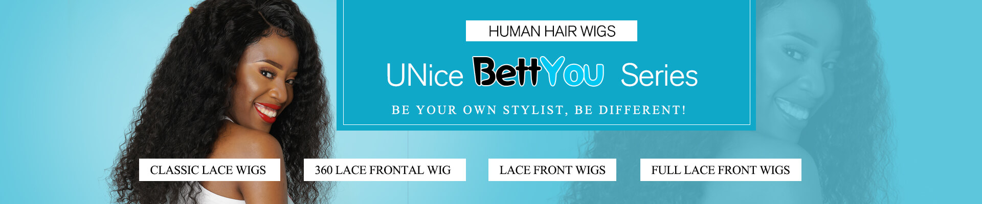 UNice Bettyou Series: 100% Human Hair Wigs