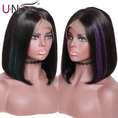 green/red hair highlight