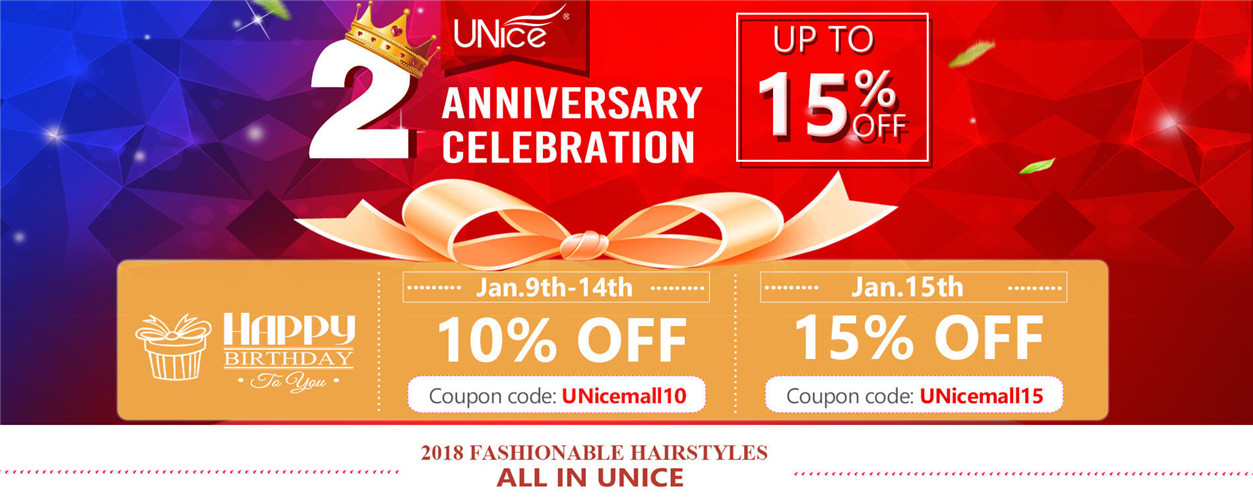 UNice Two Year Old Anniversary Sale