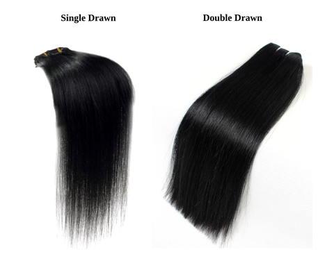 Difference Between Single Drawn Hair & Double Drawn Hair