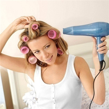 Using Hair Rollers
