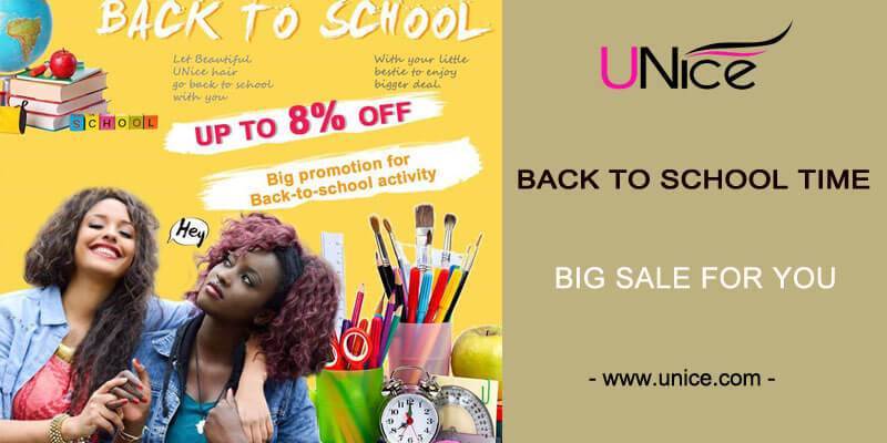 Back to school time,beautiful hairstyle and big sale for you