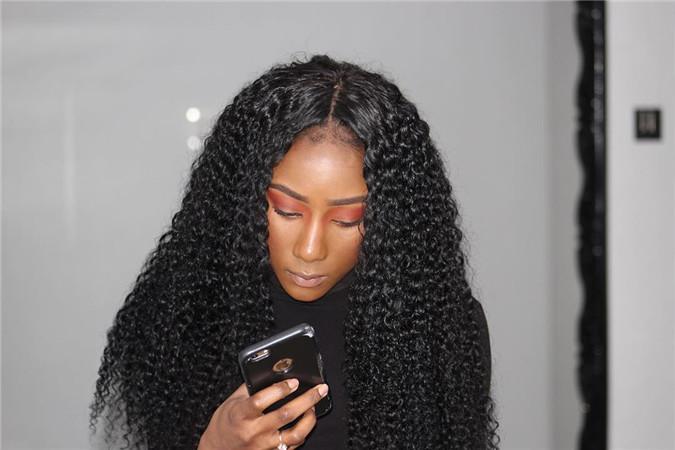 customer photo of deep wave hair