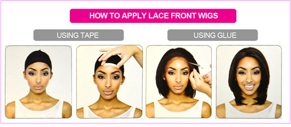 How to apply a front lace wig,