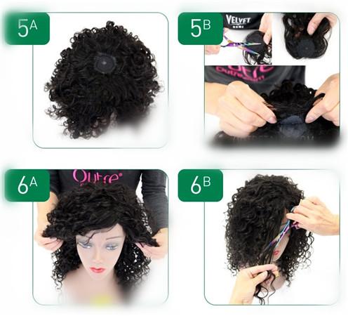 make wigs steps
