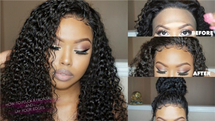 Step by step of how to pluck your wig
