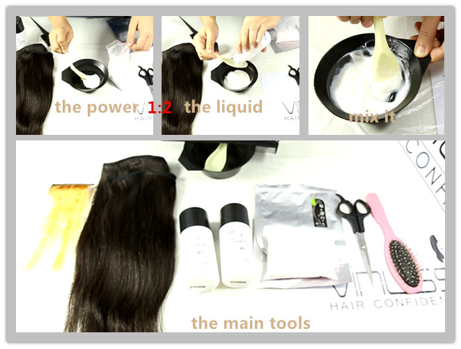 how to dye hair step by step