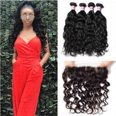 curly hair with closure deals
