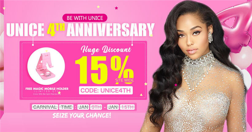 UNice 4th Anniversary Sale Now