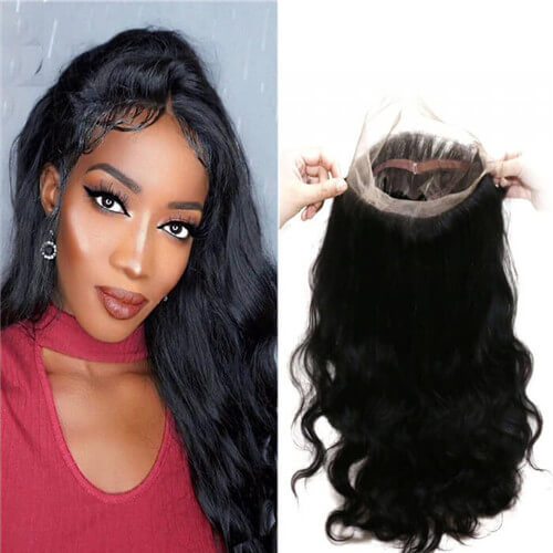 360 lace frontal closure with baby hair