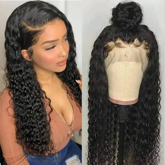 afforadble unice curly transparent lace wig