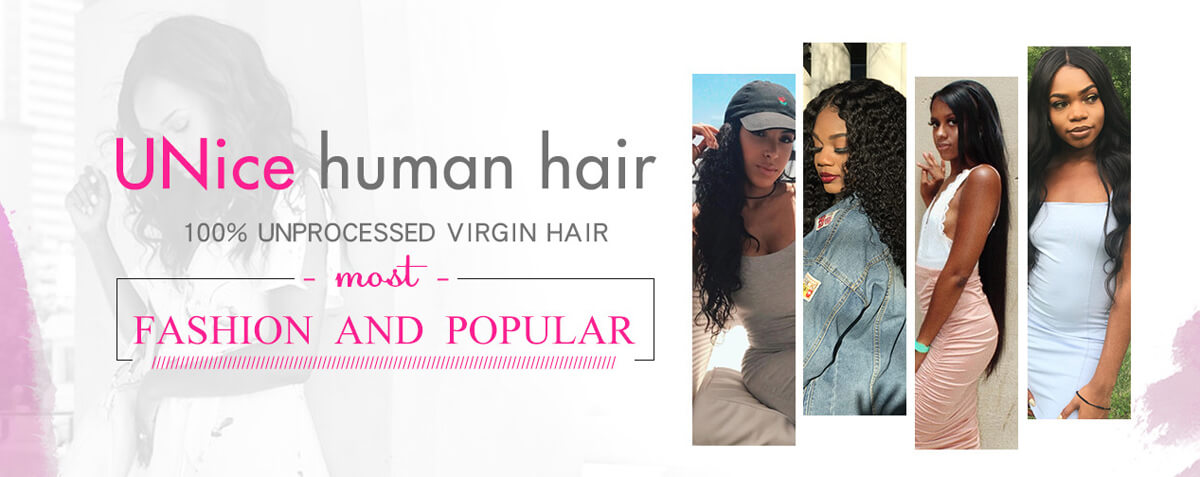 UNice 100% Unprocessed Virgin Human Hair