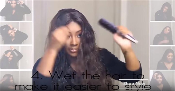 Wet the hair to make it easier to style