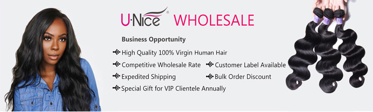 UNice wholesale 100% virgin human hair