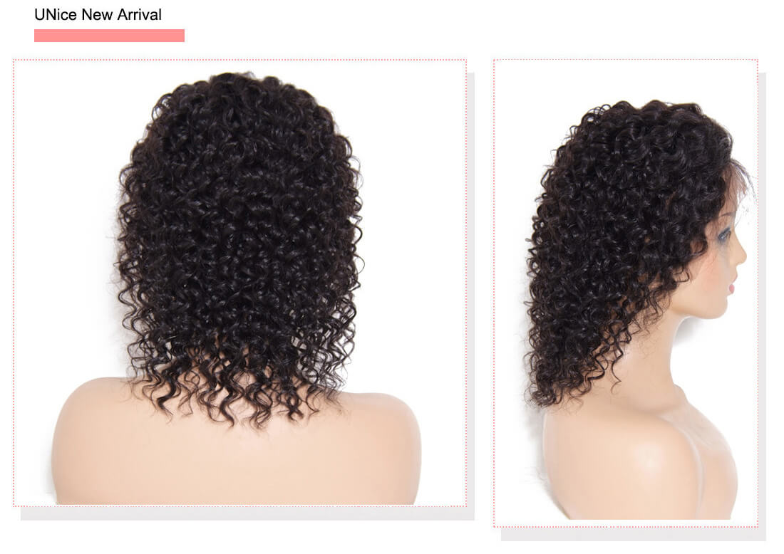 UNice Hair Bettyou Wig Series 100% Human Hair Mid-Length Curly Human Hair Lace Front Wigs