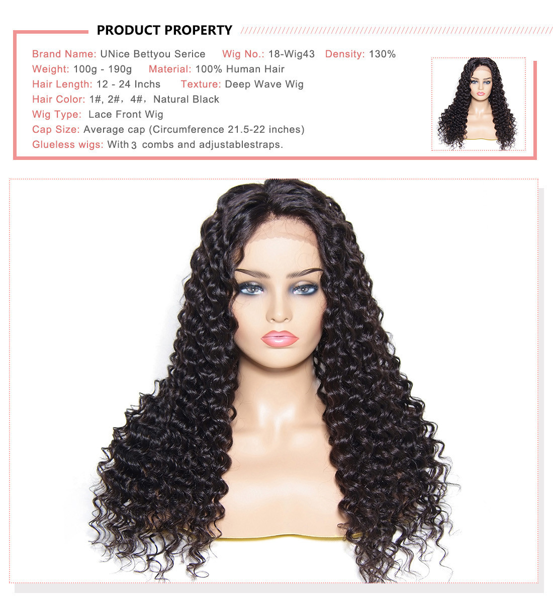 UNice Huamn Hair Natural Wave Wig