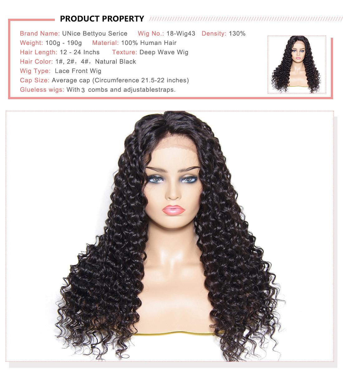 UNice Huamn Hair Natural Wave Wig