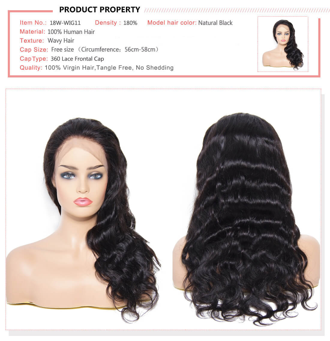 UNice Hair Bettyou Wig Body Wave 360 Lace Frontal Wig